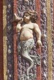 Troja Palace, relief on surrounding wall , Prague, Czech Republic Stock Images