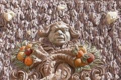 Troja Palace, relief on surrounding wall , Prague, Czech Republic Stock Photos