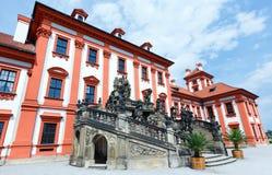 Troja Palace summer view (Prague, Czech) Royalty Free Stock Images