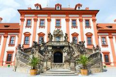 Troja Palace summer view (Prague, Czech) Stock Photos