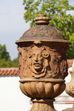 Troja Palace in sunny day, mythical vase ,Prague, Czech Republic. PRAGUE, CZECH REPUBLIC- MAY 03, 2017:Troja Palace , mythical terracotta vase. It is a Baroque Stock Images