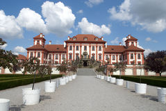 Troja the Prague castle Royalty Free Stock Photos