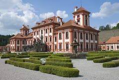 Troja Schloss Stockfotografie