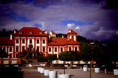 Troja-Schloss Stockfoto
