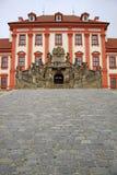 Troja slott i Prague, Tjeckien Royaltyfria Bilder