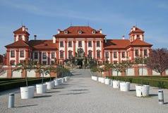 Troja slott i Prague, Tjeckien Arkivbild