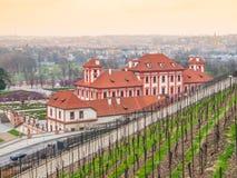 Troja wineyard w Praga i górska chata Zdjęcie Royalty Free