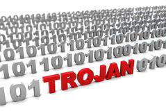 Trojan in binary code Stock Photography