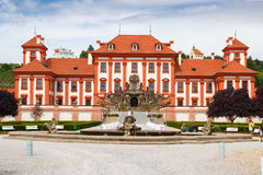 Trojan Castle. PRAGUE, CZECH REPUBLIC - JULY 11: Troja Palace is Baroque palace in Prague north-west borough,Czech Republic.It was built for Counts of Sternberg Royalty Free Stock Photo