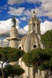 Trojan column   forum church   santa maria di loreto Stock Photo