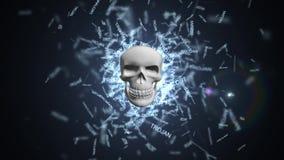 Trojan computervirus Het besmetten van het gegevensbestand en de servers royalty-vrije illustratie