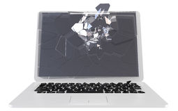 Trojan e conceito dos vírus - PC danificado Fotos de Stock