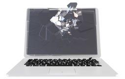 Trojan en virussenconcept - beschadigde PC Stock Foto's