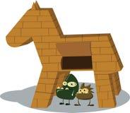 Trojan häst stock illustrationer