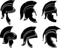 Trojan Helmet Set Royalty Free Stock Photos