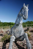The Trojan Horse. Horse sculpture Stock Photos