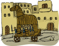 Trojan horse. Vector illustration of trojan horse Stock Photography