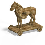 Trojan Horse. With ladder With Clipping Path over white Stock Photos