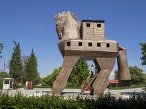 Trojan Horse auf Ort von altem Troja in Canakkale Dardanellen/die Türkei lizenzfreie stockfotografie