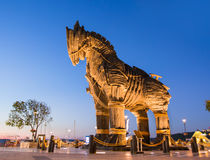 Trojan Horse, Canakkale Turquie Photographie stock