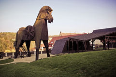 Trojan Horse at the Castle Bouzov, Czech Republic Royalty Free Stock Photo