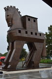 Trojan Horse in the City of Troy,Turkey. Stock Photo