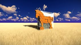 Trojan horse and computer stock video