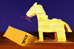 Trojan horse and computer Stock Image