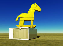 Trojan horse and computer Stock Images