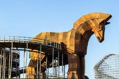 Trojan Horse de madeira fotos de stock royalty free