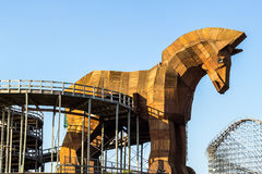Trojan Horse di legno Fotografie Stock Libere da Diritti