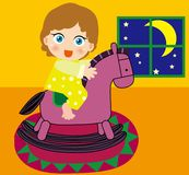 Trojan Horse e ragazza Immagini Stock Libere da Diritti