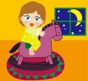 Trojan Horse et fille Images libres de droits