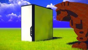Trojan Horse et ordinateur Images stock
