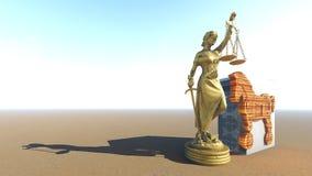 Trojan Horse et ordinateur Conception de loi rendu 3d Photo stock