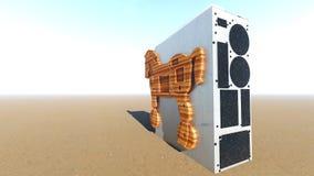 Trojan Horse et rendu de l'ordinateur 3d Photos libres de droits