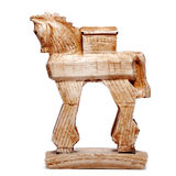 Trojan horse, figurine, bibelot. Figurine of the trojan horse, bibelot Royalty Free Stock Photo