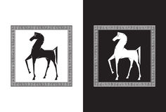 Trojan Horse. Illustration of the Trojan Horse Stock Photos