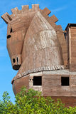 Trojan Horse located in Troy Stock Images