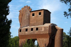 Trojan Horse located in Troy. Turkey Royalty Free Stock Photo