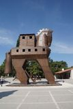 Trojan Horse replica. On the site of ancient  Troy. Turkey Stock Photography
