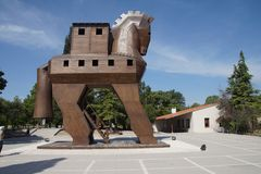 Trojan Horse replica. On the site of ancient  Troy. Turkey Stock Images