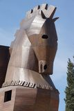 Trojan Horse replica. On the site of ancient  Troy. Turkey Royalty Free Stock Images
