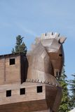 Trojan Horse replica. On the site of ancient  Troy. Turkey Stock Photo