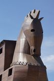 Trojan Horse replica. On the site of ancient  Troy. Turkey Stock Image
