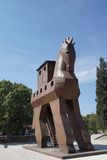 Trojan Horse replica. On the site of ancient  Troy. Turkey Royalty Free Stock Photography