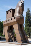Trojan Horse replica. On the site of ancient  Troy. Turkey Royalty Free Stock Photos