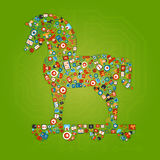 Trojan Horse Shape Concept Royalty Free Stock Images