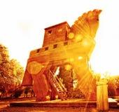 Trojan Horse at Sunset Royalty Free Stock Photos