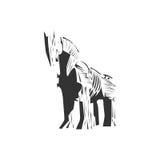 Trojan horse  ,  wood horse Royalty Free Stock Image